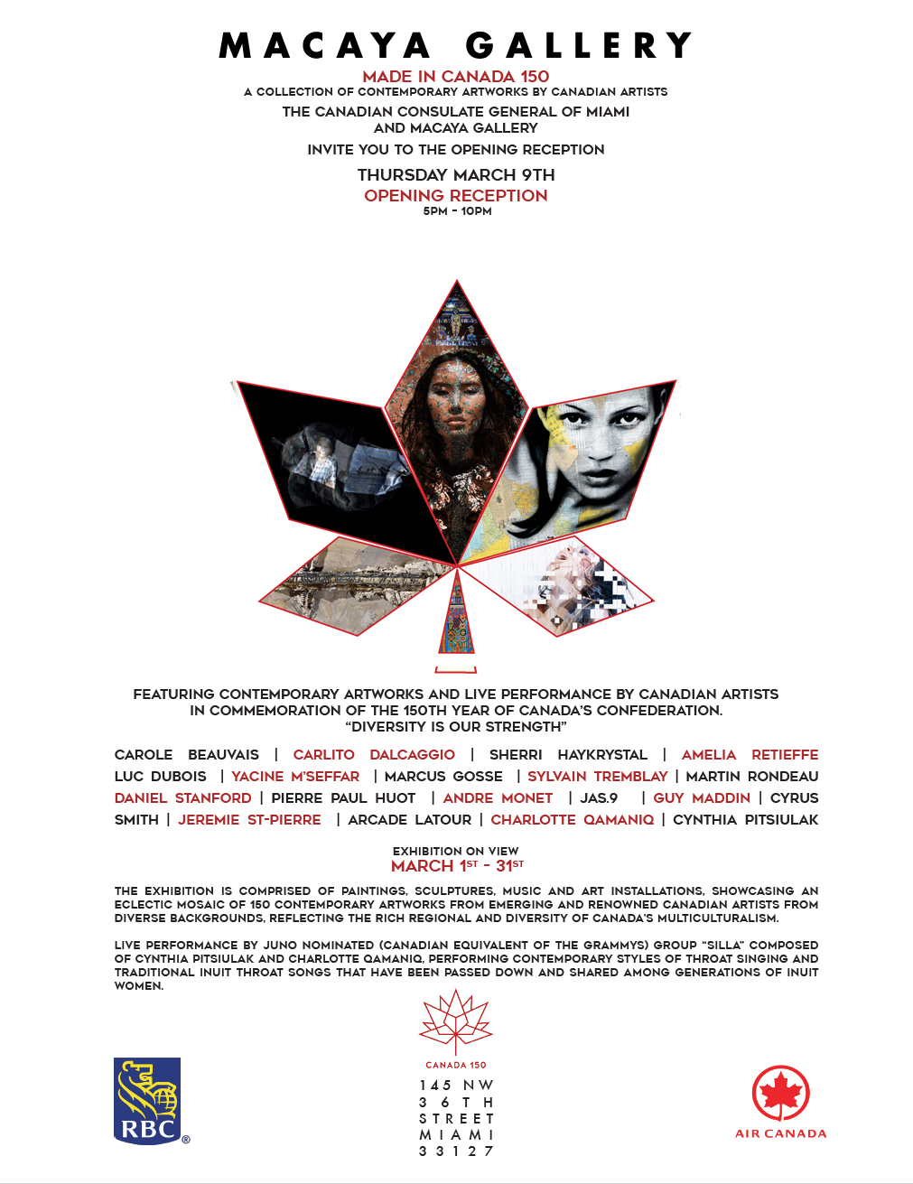 """Happy Birthday Canada! Celebrate 'Made in Canada  150' with """"Diversity is our Strength"""" – Macaya Wynwood with Consulate General of Canada"""