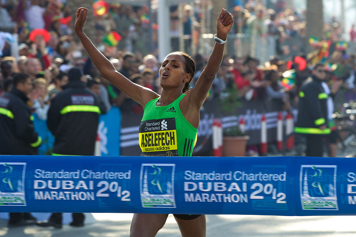 THREE-TIME WINNER MERGIA, EX-WORLD CHAMP DIBABA SET FOR STANDARD CHARTERED DUBAI MARATHON