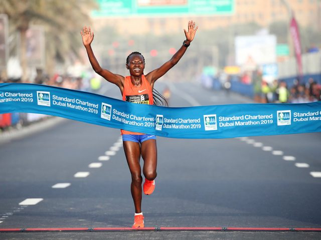 DUBAI HAILS CHEPNGETICH AS STANDARD CHARTERED DUBAI MARATHON CHAMPION WINS WORLD GOLD
